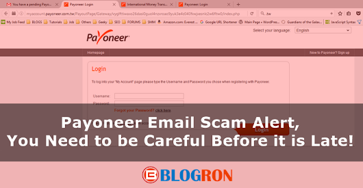 Payoneer Email Scam Alert, You Need to be Careful Before it is Late