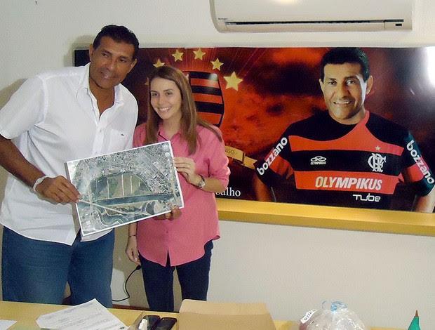 Patrícia Amorim com Zito, prefeito de Duque de Caxias