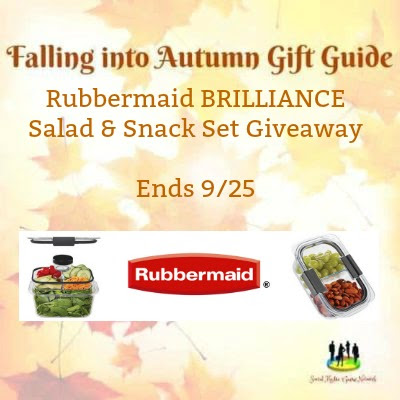 Enter the Rubbermaid BRILLIANCE Salad & Snack Set Giveaway. Ends 9/25