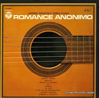 SERRA, ANTONIO FRANCISCO romance anonimo