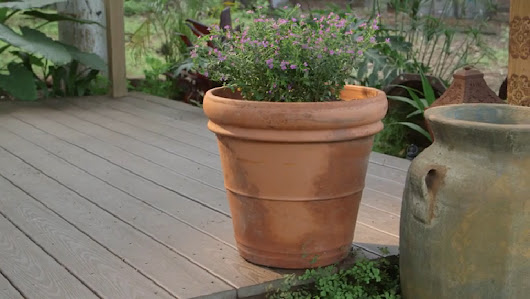 Soil-Saving Trick for Deep Pots | eHow