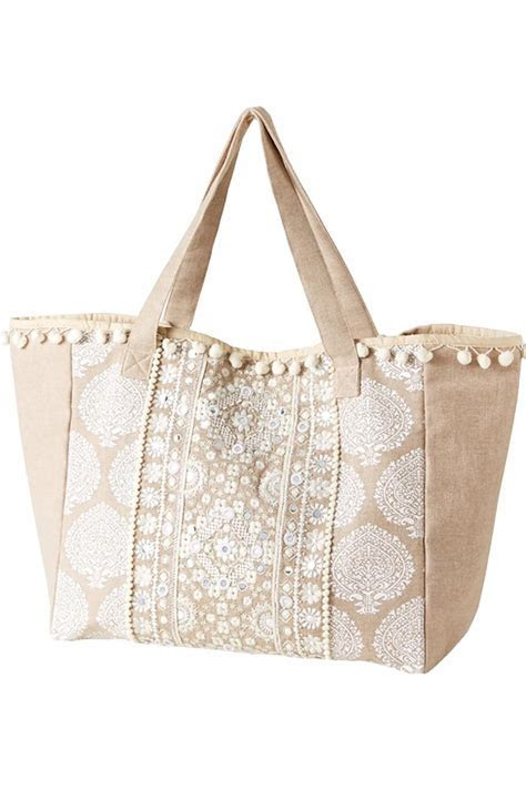 2 Chic Embroidered Tote Bag from Washington by Dolly Mama