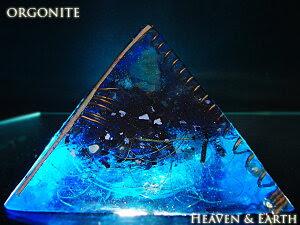 ◆4月末まで特別価格◆一点物12cm大オルゴナイトピラミッド『海底の秘宝4』(ホワイトアゼツラ…