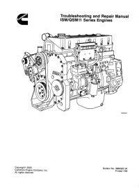 Cummins ISM / QSM11 Series Engines Repair Manual PDF