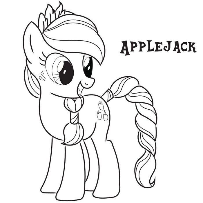 Coloring Pages For Kids My Little Pony At Getdrawingscom Free For