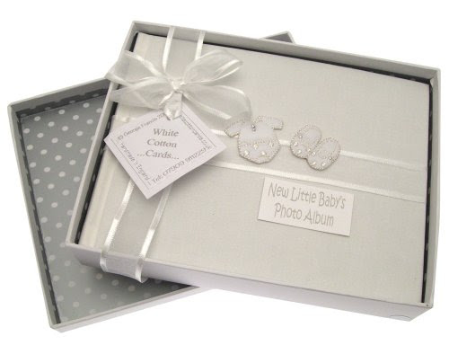 White Cotton Cards Baby Silver Clothes Small Album Toys Gifts