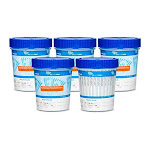[10 Pack]12 Panel Cups with AMP, BAR, BUP, BZO, COC, MDMA, MET (MaMP), MTD, OPI, OXY, TCA, and THC, Multi Panel Urine Drug Test, Temperature Strips