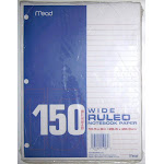 """Mead Products Filler Paper, 8"""" x 10.5"""" - 150 pack"""