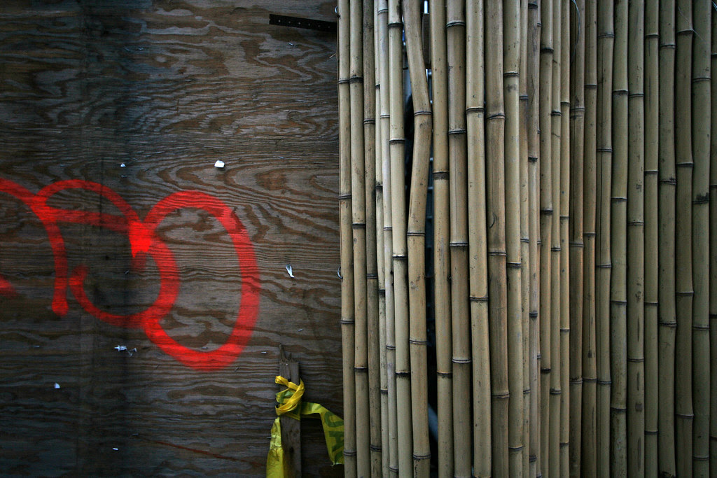 Shutter Building's plywood is bamboo