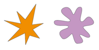 ¿Cuál de estas figuras es kiki y cuál es bouba? El efecto bouba/kiki sugiere que la relación entre los sonidos y las cosas no siempre es completamente arbitraria.