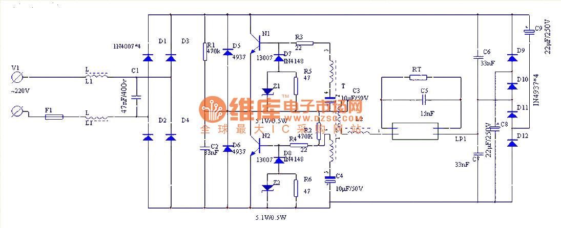 Fluorescent Light Wiring Schematic - Wiring Diagram & Schemas