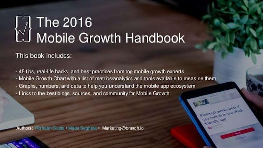 Mobile Growth Handbook 2016 - 45 tips and hacks from growth experts - Alexander Jarvis