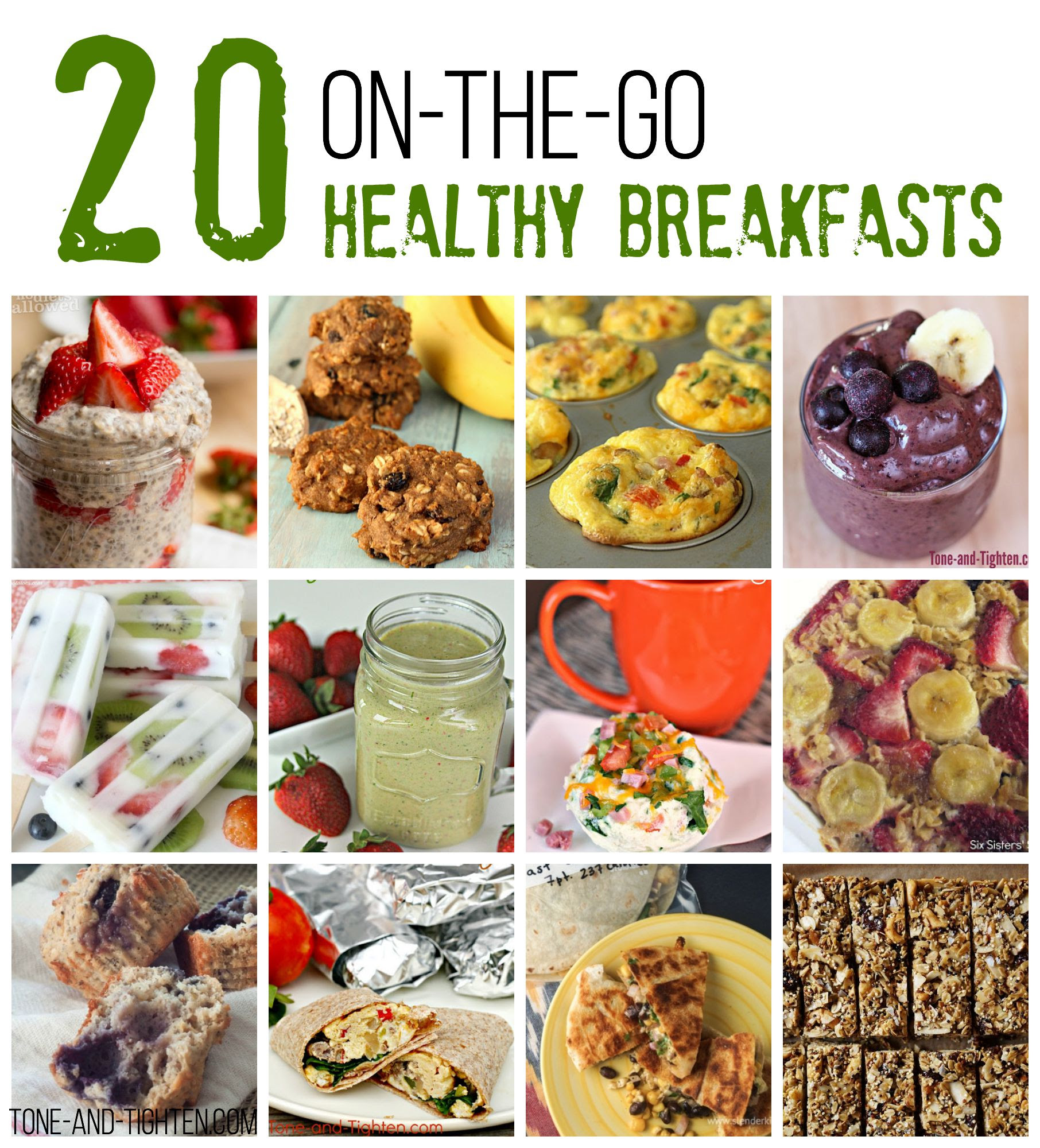 20 On-The-Go Healthy Breakfast Recipes | Tone and Tighten