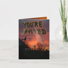 Spider Web Party Invitation Card card