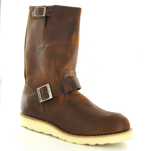 Red Wing Classic Engineer 02971 Brown Leather Mens Boots Size 9 UK