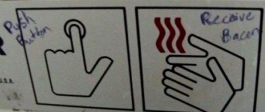 Push Button, Receive Bacon • r/MildlyVandalised
