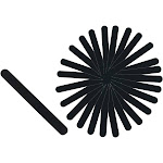 Rucci Black with Foam Nail File 240 Grit (Pack of 30)