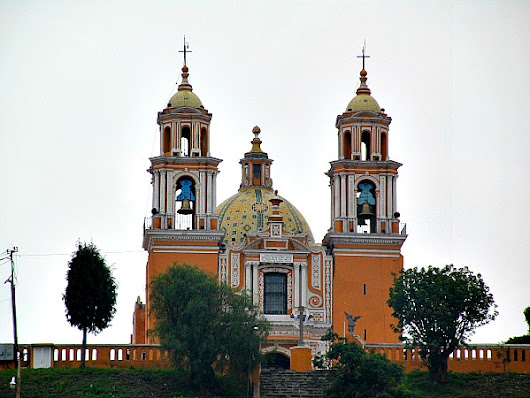 The church on top of the Great Pyramid of Cholula