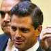 President-elect Enrique Peña Nieto, center, held a news conference in Mexico City on Monday. He has said he caught the political bug in elementary school.