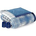 Micro Flannel Electric Heated Blanket Full Smokey Mountain Plaid