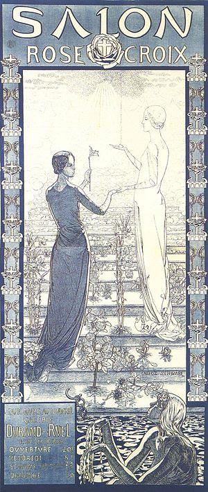 Salon de la Rose+Croix, 1892. Plakat zur Eröff...
