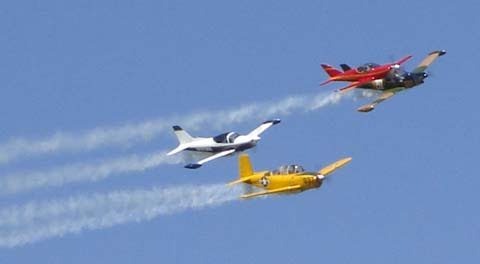 A Gaggle Flight formation over Spruce Creek