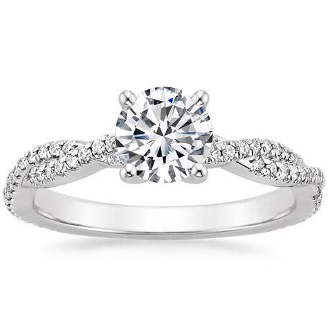 18K White Gold Petite Luxe Twisted Vine Diamond Ring (1/4