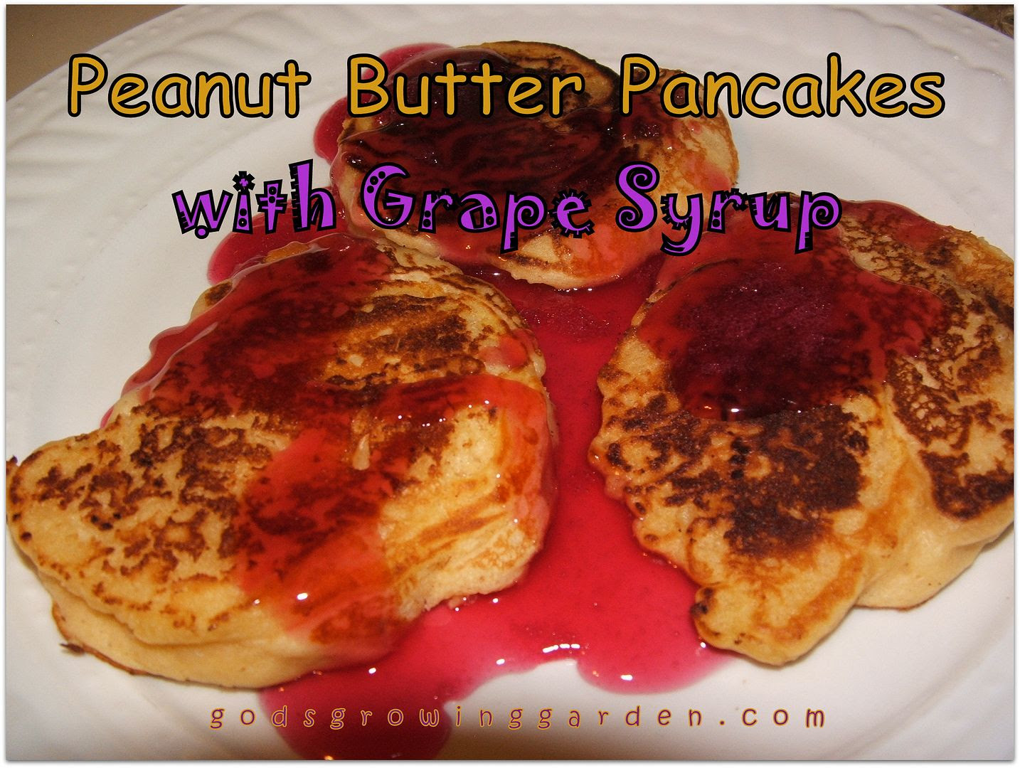 Peanut Butter Pancakes with Grape Syrup by Angie Ouellette-Tower photo 011_zps5f3425ec.jpg