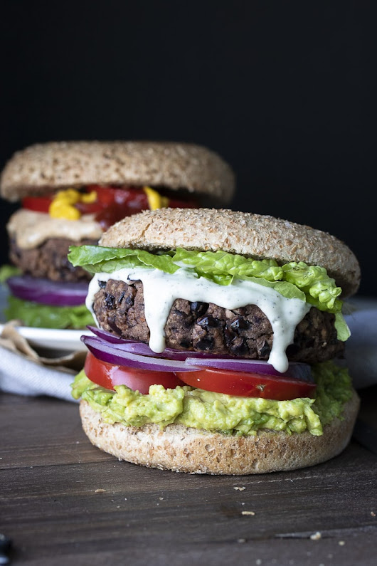 Low-Fat Easy Vegan Gluten Free Black Bean Burgers