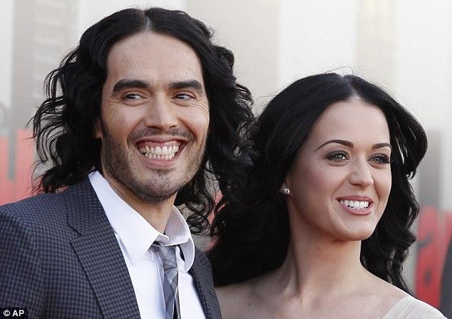 Dias felizes: Russell Brand e Katy Perry no ano passado