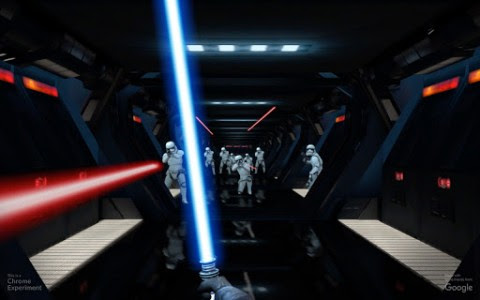 » Google Lets You Fire Up Your Lightsaber with Mobile Browser Game