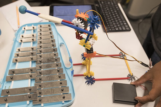 Robots and xylophones? At Drexel camp they make beautiful music together