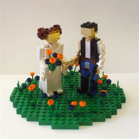 Lego Wedding Cake Toppers   Emmaline Bride Wedding Blog
