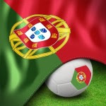 Portuguese flag and ball