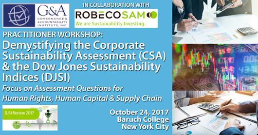 LESS THAN 10 DAYS LEFT! REGISTER & RESERVE YOUR SEAT AT DEMYSTIFYING THE CSA & DJSI - Invest with Values