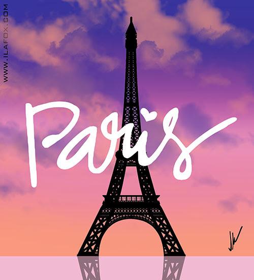 Torre Eiffel, Paris, entardecer Paris, by ila fox