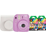 Fujifilm - Instax Mini 9 Instant Film Camera Bundle - Smokey Purple