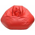 Hudson Industries 30014046807 Red Leather Look Vinyl Bean Bag XXL