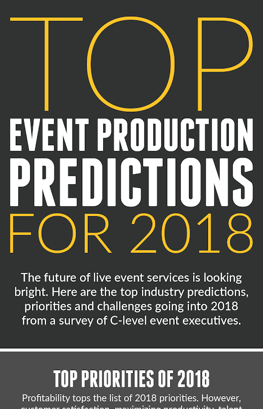 Top Event Production Predictions for 2018: Infographic - LASSO