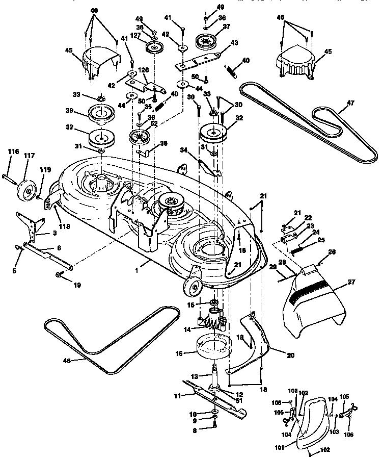 """46"""" MOWER DECK Diagram & Parts List for Model 917258870 ..."""
