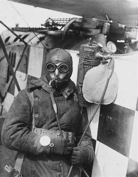 Gotha Pilot with oxygen generator attached to the engine