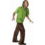 Scooby-Doo Shaggy Adult Costume - 626 - Brown - Standard One-size