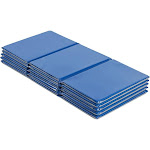 """ECR4Kids Value 3-Fold Daycare Rest Mat, Folding Nap Time Mat, 1"""" Thick, 5-Pack, Blue and Grey"""