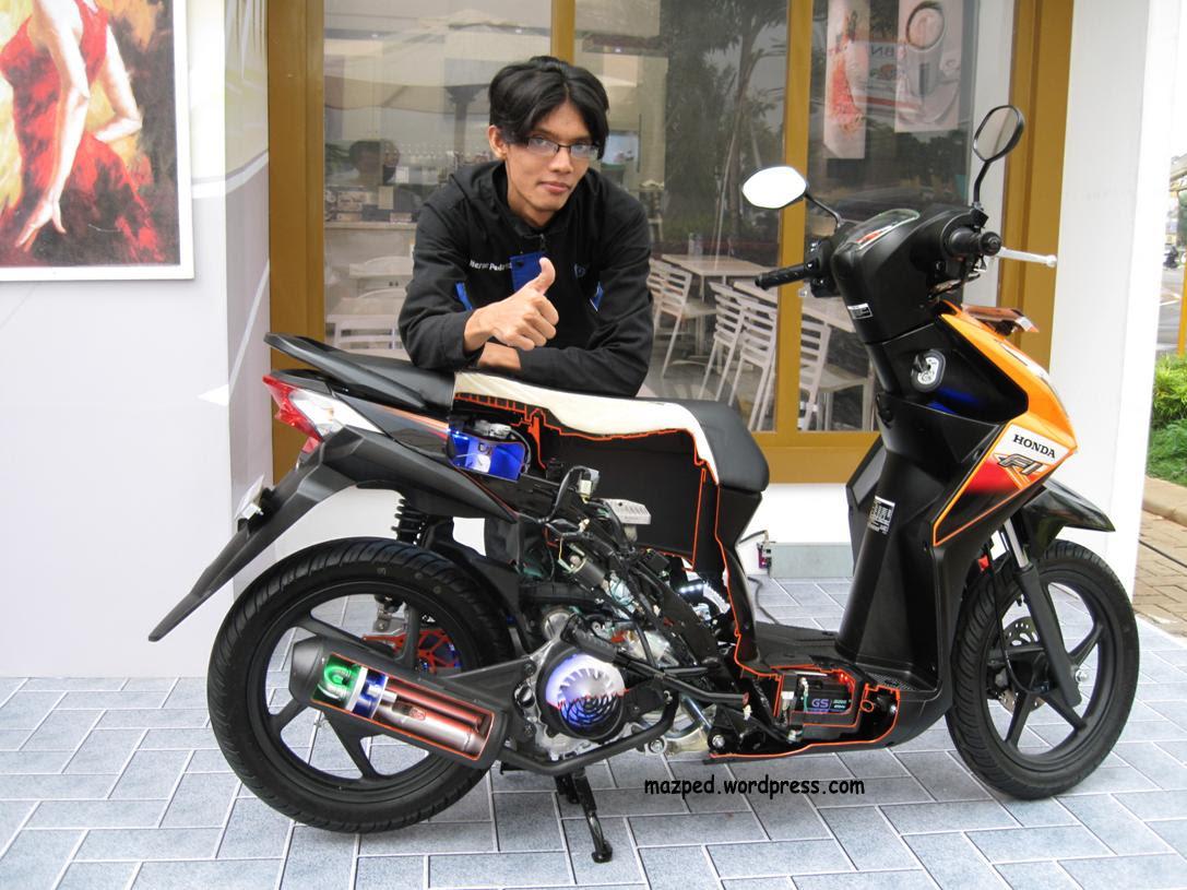 Kumpulan Modif Honda Beat Fi Sederhana Terbaru Botol Modifikasi