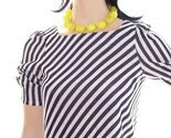 Totally 80s Vintage Black and White Striped Puff sleeve Dress