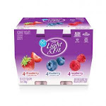 Light and Fit Strawberry Blueberry Raspberry Yogurt, 4 Ounce - 48 per case.