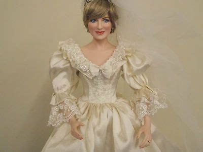 Charming 18 Princess Diana Porcelain Wedding Doll Franklin