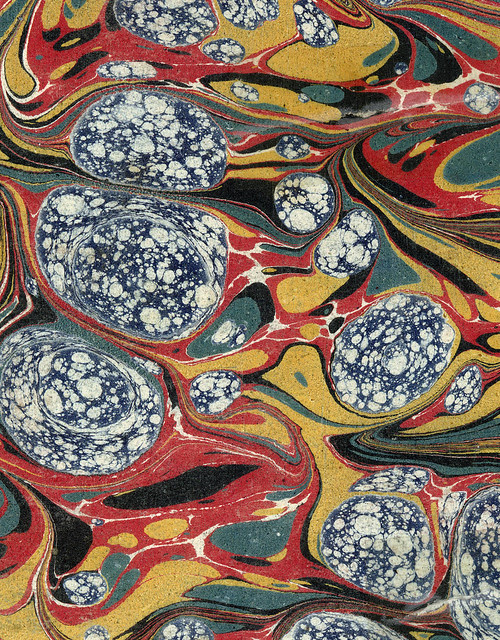 Vintage 19th c. marbled paper, Gloster pattern (24)