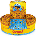 Marshmallow Furniture Flip-See-Do Comfy Foam Toddler Kid's Chair, Cookie Monster by VM Express