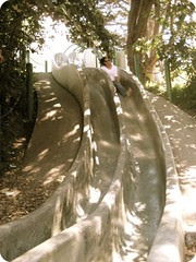 Sinny on the Seward Street Slides